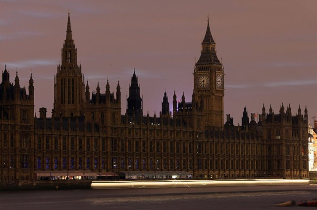 London Parliament House Earth Hour 2012