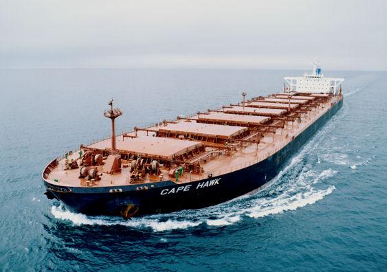 A Typical Bulk Coal Carrying Ship