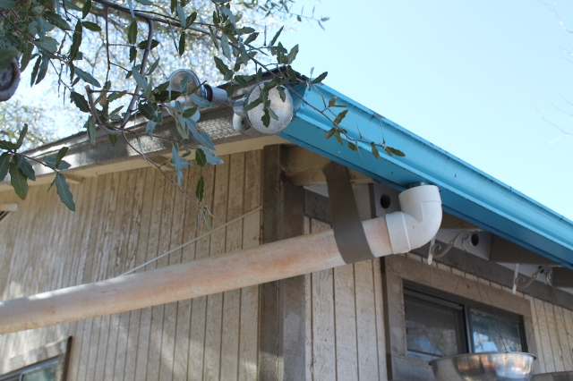Connect Drainage Pipe to your Gutters....