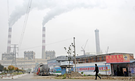 Massive Coal Burning Power Plant in Pinghu