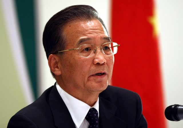 Chinese Prime Minister Wen Jiabao