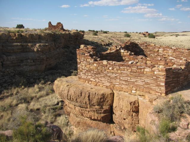 Three Pueblos make up Lomaki ruins