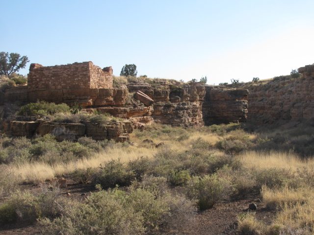 The Box Canyon below the ruins had deep soils and collected water from the surrounding hills