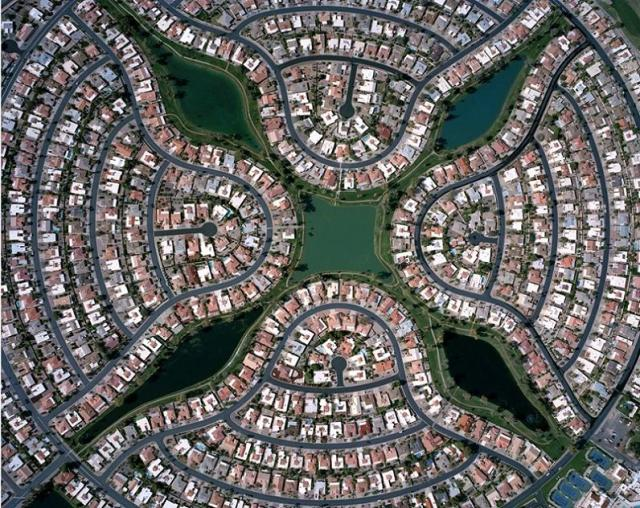 A Great Aerial photo by Christoph Gielen of an Arizona Neighborhood