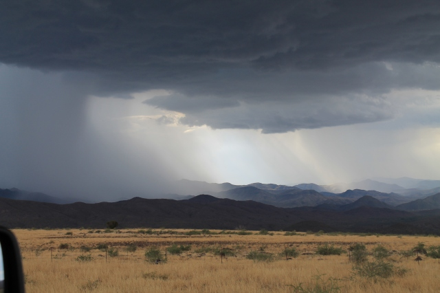 Storms like these will make the washes run.