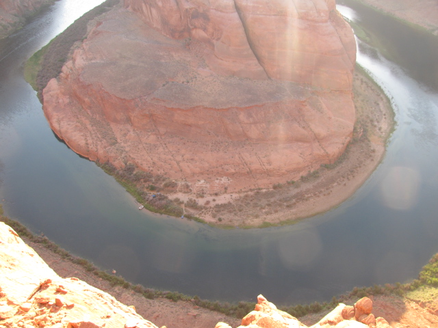 Horseshoe Bend is just below Glen Canyon Dam
