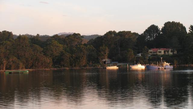 Strahan Harbour from the Wharf