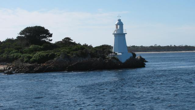 The entry into Macquarie Harbor is called Hells Gate.  The fresh water in the harbor create their own barometric tides!