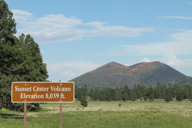 Sunset Crater the last great Volcanic eruption in Arizona