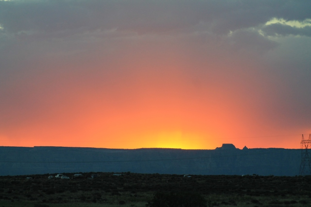 The Sun goes down in Northern Arizona