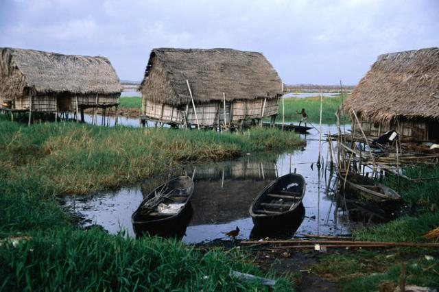 Homes on Stilts were the only way to survive in the Tropics