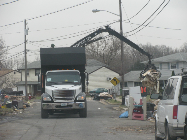 White goods being hauled away after Sandy