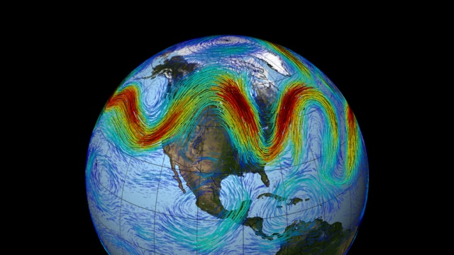 NASAs Image of an amplified Jet Stream