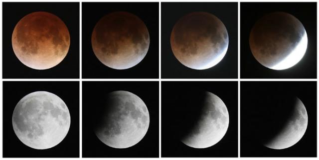 A Rare Blood Moon.