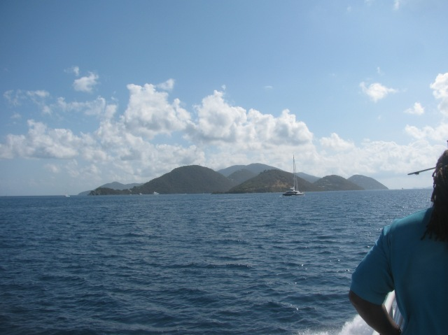 Tortola in the distance